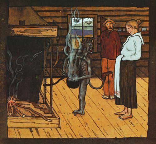 hugo_simberg_-_piru_padan_aaressa_1897