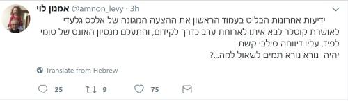 ציוץ של אמנון לוי
